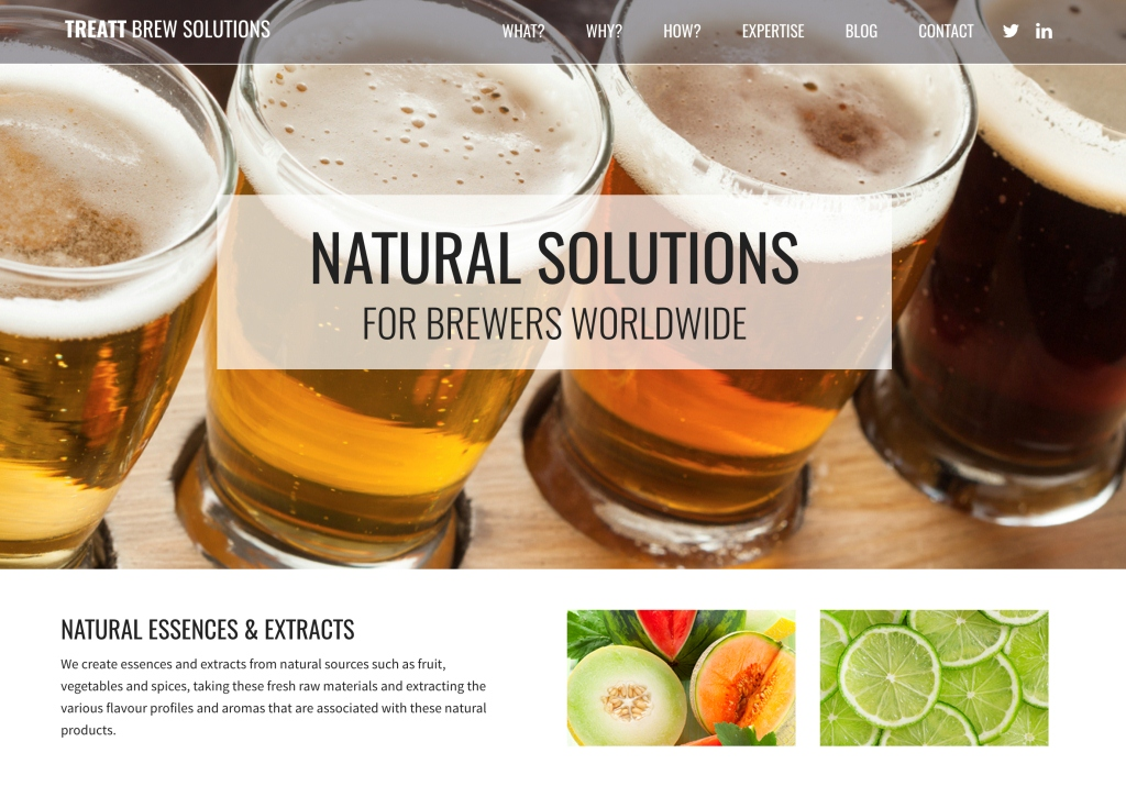 Treatt expands brewing capabilities with new microsite