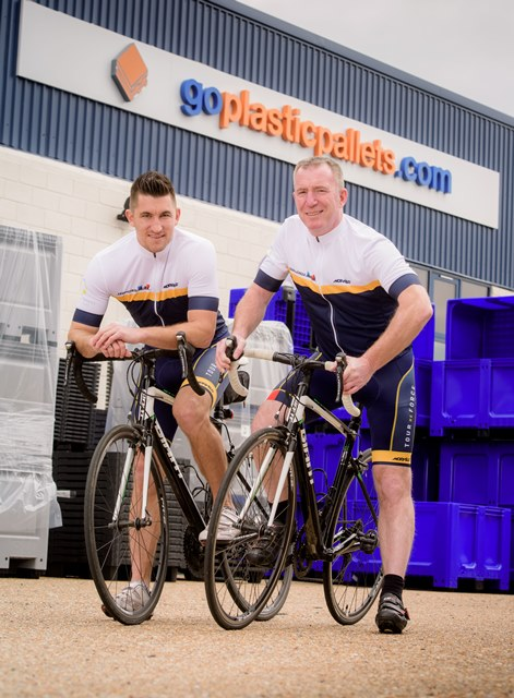 Goplasticpallets.com team cycle Tour de France challenge for charity