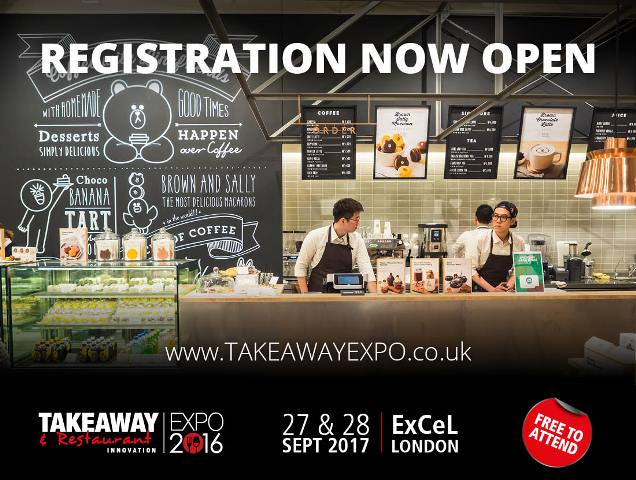 Ticket registration opens for Takeaway & Restaurant Innovation Expo