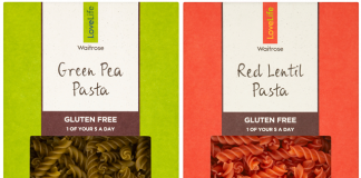 Waitrose launches free-from pasta in food waste packaging