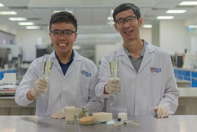 World first as alcohol made from tofu whey