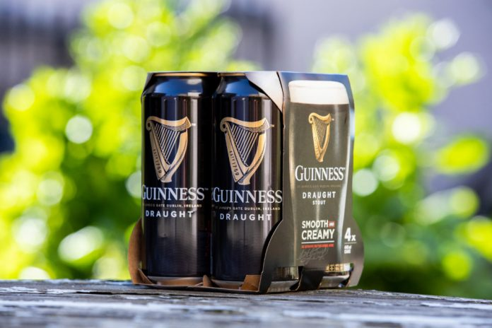 Diageo removes plastic packaging from beer packs in UK & Ireland