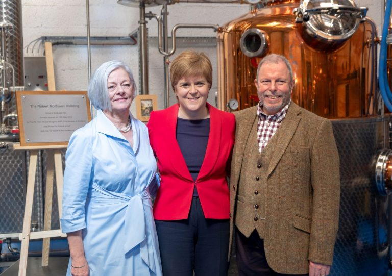 First Minister Nicola Sturgeon officially opens brand-new 6,200ft² McQueen Gin distillery