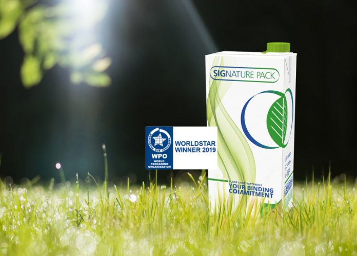 SIG carton pack recognised international for packaging excellence