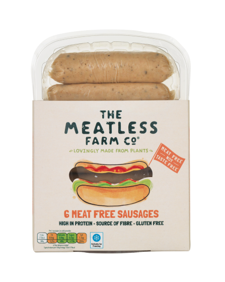 The Meatless Farm Co launches line of plant-based sausages