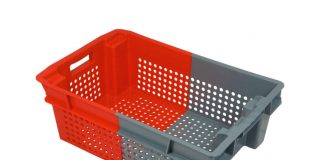 New bi-coloured harvest crates on show this July