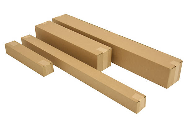 Heavy duty long postal boxes securely protect taller products