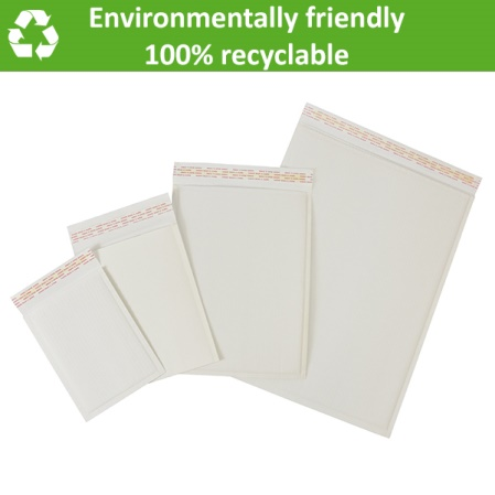 Reducing plastic usage with paper padded envelopes