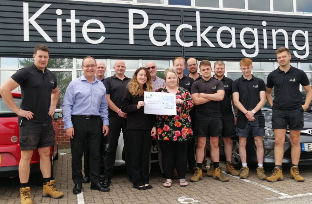 Kite Packaging donate to children's cancer charity