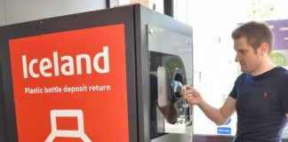 Reverse vending machine a hit with Iceland shoppers
