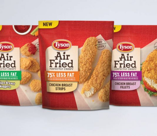 Tyson launches 'first of its kind' air fried chicken range