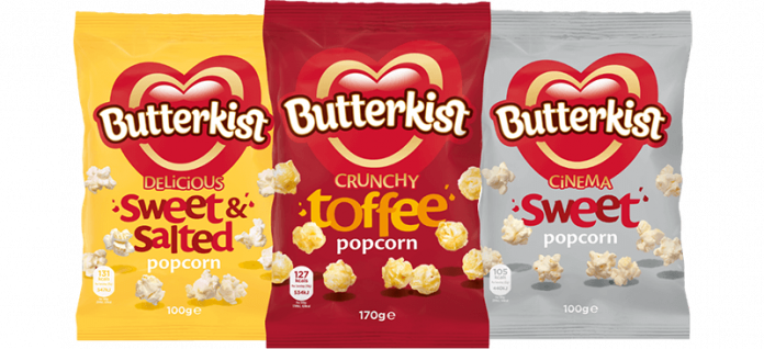KP Snacks invests £2m in Butterkist brand to capitalise on home snacking
