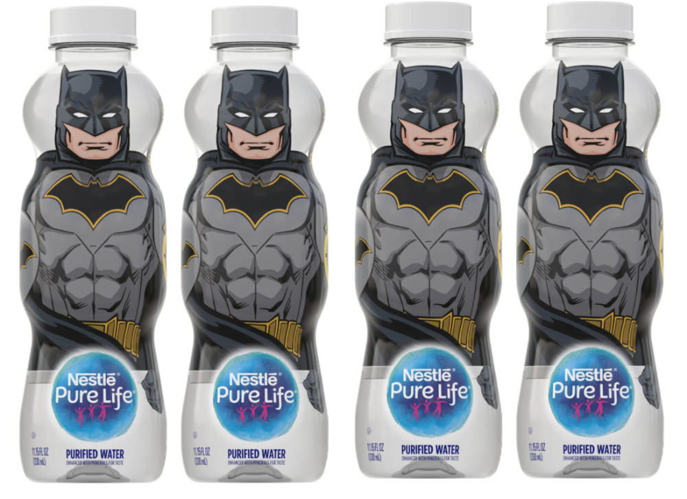 Nestlé taps Batman & Wonder Woman for latest bottle launch
