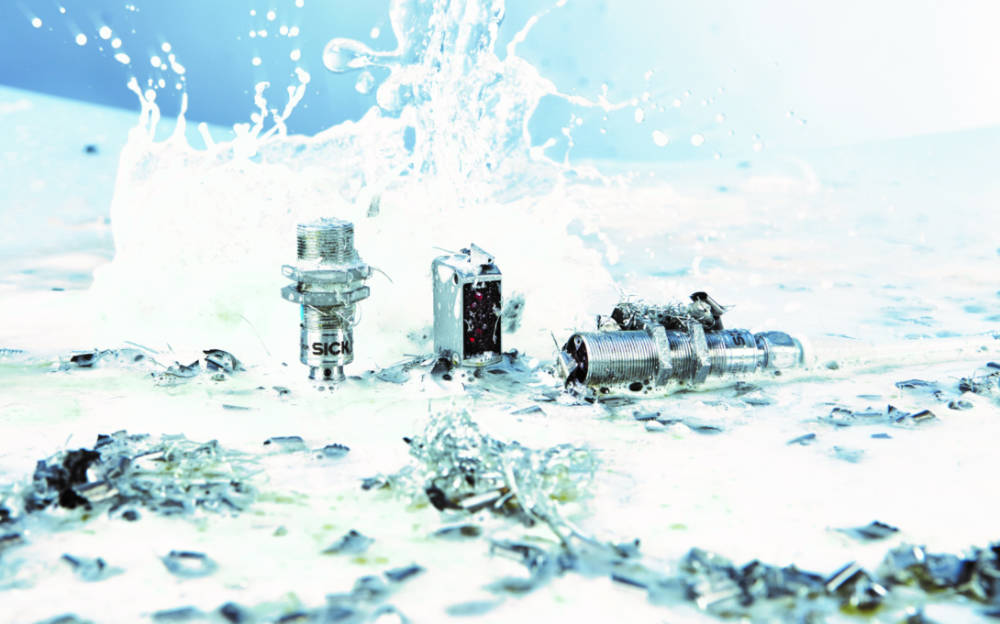 Rough, tough stainless-steel SICK sensors thrive in washdown environments