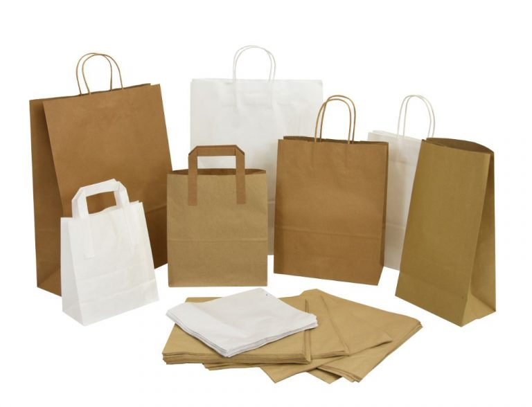 Kite Packaging's twist handle paper bags offer plastic alternative