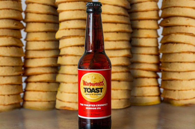Warburtons launch limited-edition beer made from surplus crumpets