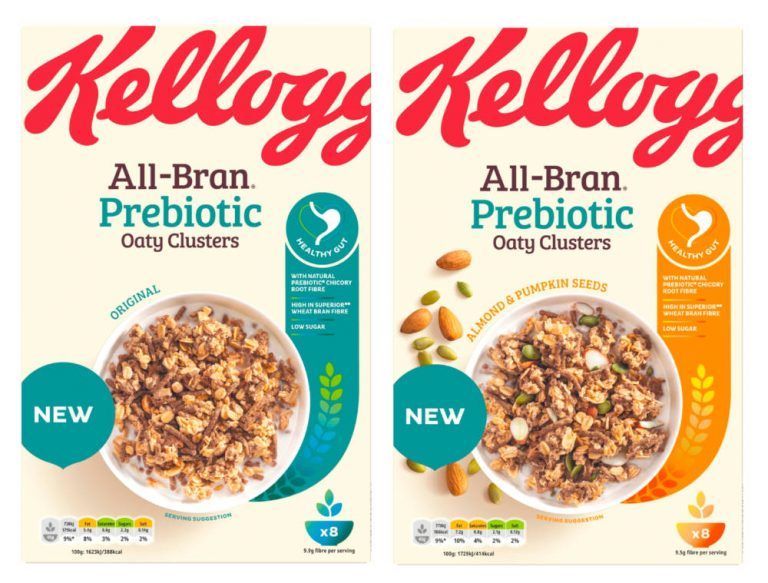 Kellogg's prioritise gut health with new prebiotic cereal