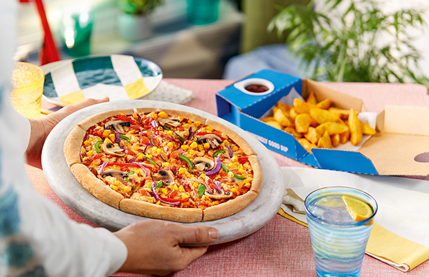 Domino's trial new fresh vegan dough