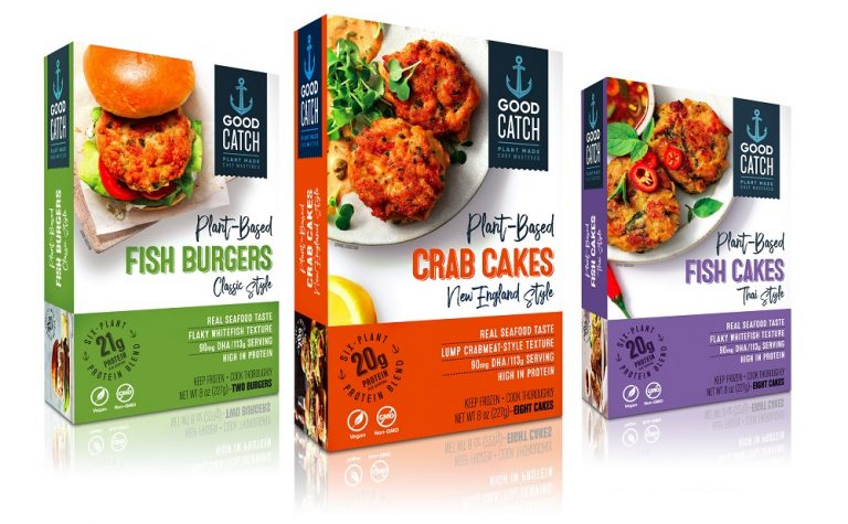 Gathered Foods launches frozen plant-based seafood range