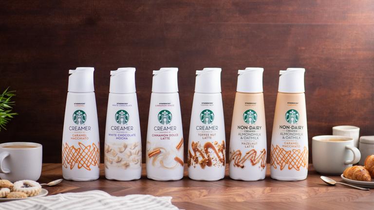 Starbucks launch non-dairy creamers via Nestlé coffee alliance