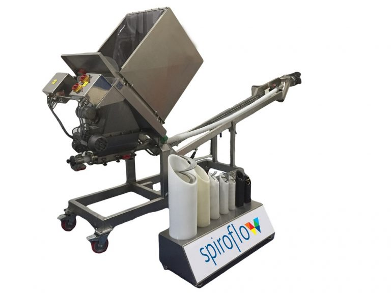 Spiroflow's mobile sack tip and conveyor solutions provide food sector scalability