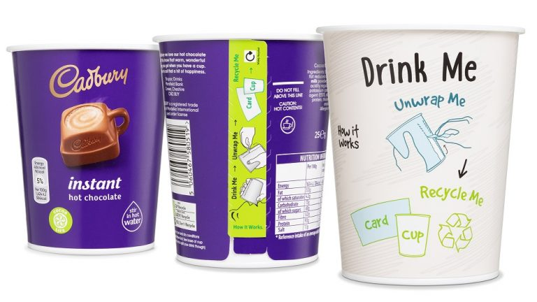 Brupac chooses new disposable, yet recyclable, in-cup drinks packaging solution