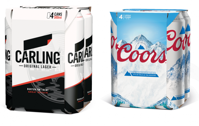 Molson Coors removes plastic rings from all major brands in the UK