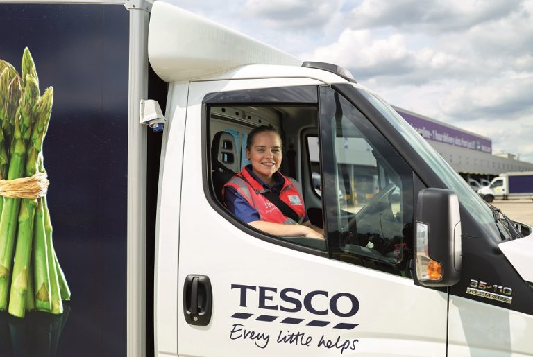 Driver tech helps Tesco's home delivery service slash vehicle emissions