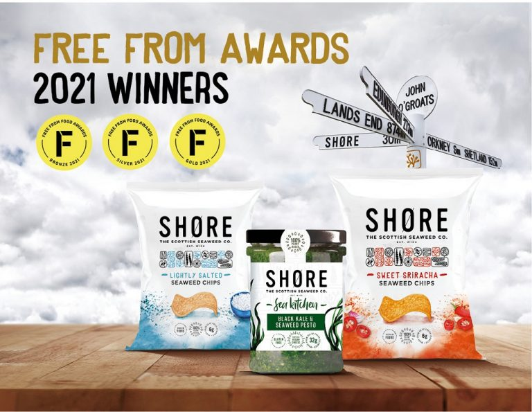 SHORE the Scottish Seaweed Company wins Gold at the Free from Food Awards
