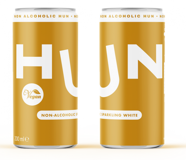 HUN launches UK's first alcohol free canned wine